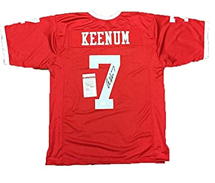 uk availability 3b470 cb130 Case Keenum Autographed Signed Houston Cougars Red Football ...