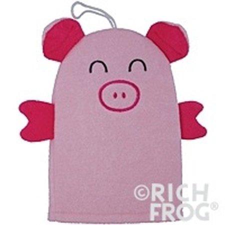 Rich Frog Light Pink Pig Wash Mitt