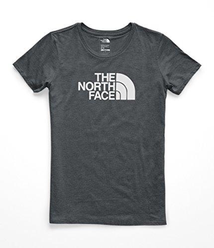 The North Face Women's Half Dome Tri- Blend Crew Tee - TNF Dark Grey Heather & TNF White - L ()