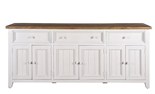 Farmhouse Furniture twofrm1047 Newport Sideboard Buffet Solid Wood Honey/Ivory 83 - Wood Ivory Buffet