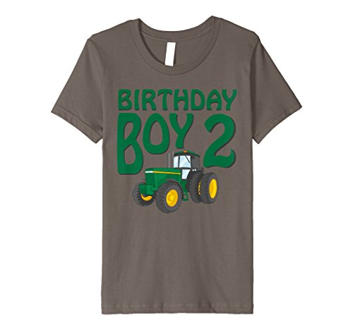 Kids 2Nd Birthday Green Farm Tractor Shirt   Two 2 Year Old