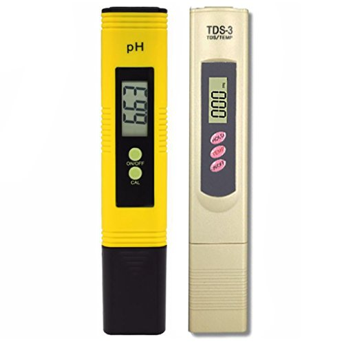 Water Quality Test Meter TDS PH 2 in 1 Set Readout Accuracy Ideal Use to Test for Water, Pools, Aquariums, Spas, - Conductivity Handheld Meter Set