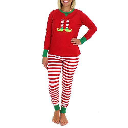 Christmas Pajamas, Long Sleeve Family Members Matching Print Plaid Holiday Sleepwear Set for Adults Kids Babies (XL, Womens)