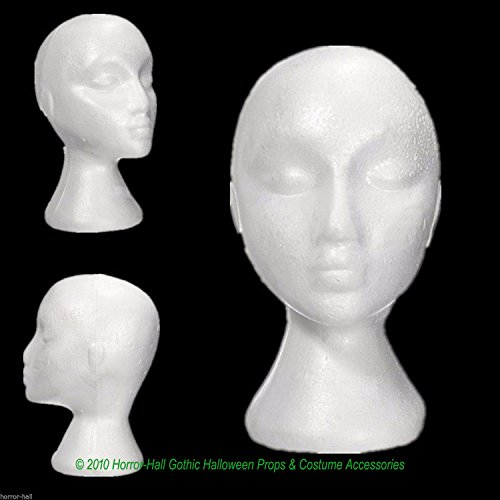 12pc LOT-Prop Building Supply-MANNEQUIN HEADS-Halloween Costume Mask Wig Display]()