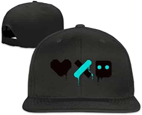 645e7d62a6877b Ninjutsu Love Death and Robots Flat Bill Snapback Adjustable Men's Women's  Black Running Caps Hats
