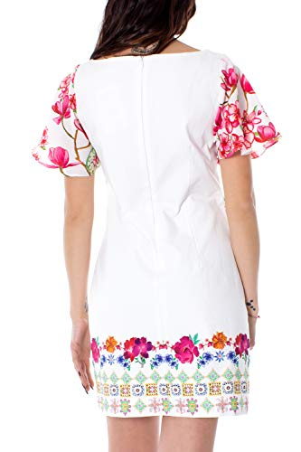 Desigual Femme Robe Vest 19swvwau Courte Blanc Clio SqZr6Sw