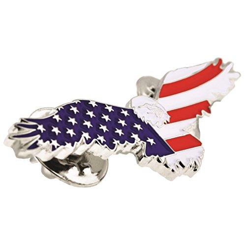 ... PinMarts American Flag Patriotic Soaring Eagle Enamel Lapel  ...