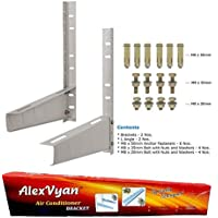 Alexvyan Iron Wall Mounting Bracket Stand for 1, 1.1, 1.2, 1.5, 2 Ton AC (White)
