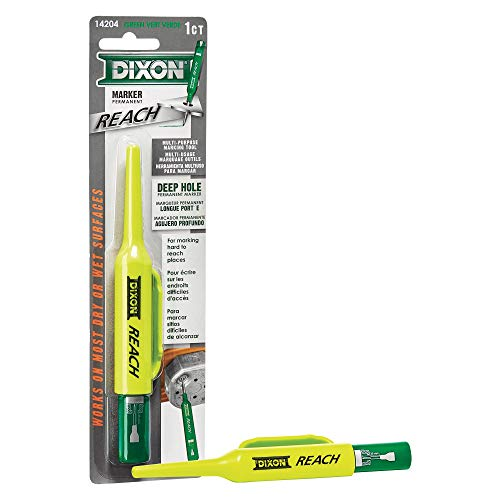 DIXON Industrial REACH- Deep Hole Permanent Marker, Green, 1-Count (14204)