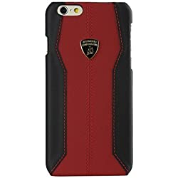 Automobili Lamborghini Huracan D1 Genuine Leather Back Case for iPhone 6/6S Plus (Red)