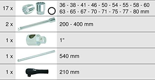 KSTools 911.0822 Coffret de Douilles et Accessoires 1 22 Pi/èces