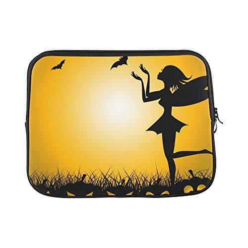Design Custom Halloween Pumpkin Meaning Trick Treat Fairy Sleeve Soft Laptop Case Bag Pouch Skin for MacBook Air 11
