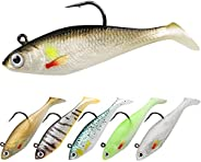 GOTOUR Soft Fishing Lures, Long Casting Jigging Lure, Lifelike Swimbait, Freshwater or Saltwater Soft Lure for