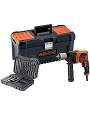 """BLACK+DECKER BEH850KA32-QS Taladro percutor con cable 850W con set de 32 accesorios y caja de herramientas 16"""", 850 W"""