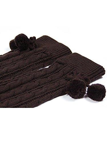 dolce brown inverno Girls a coscia calze alta scaldamuscoli caffè Jelinda maglia low ginocchio AEqZwZP
