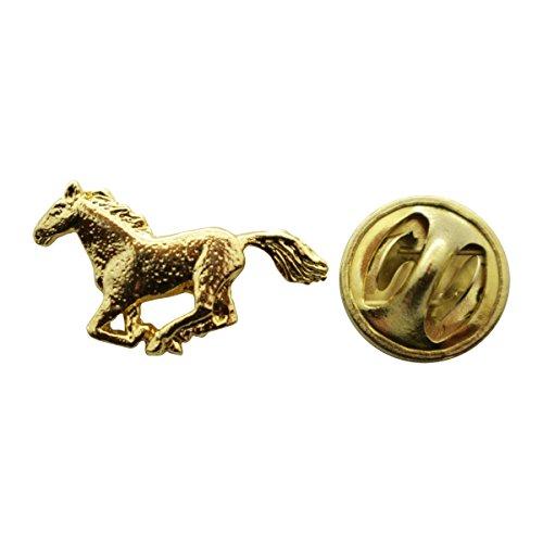 Sarah's Treats & Treasures Horse Mini Pin ~ 24K Gold ~ Miniature Lapel Pin ()