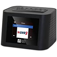 Ocean Digital Internet Radio WR828F Wi-Fi FM Radio Stream Media Music Player Alarm Clock with USB Port for Charging- Black