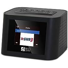 Ocean Digital WR828F FM / Wi-Fi Internet Radio Alarm Clock Stereo Dual Speaker with USB Port for Charging - Black
