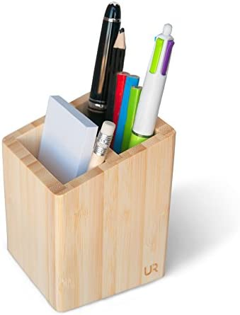 freneci Bois Stylo Crayon Porte-gobelet Cas Bureau Organisateur Maquillage Pinceau R/écipient