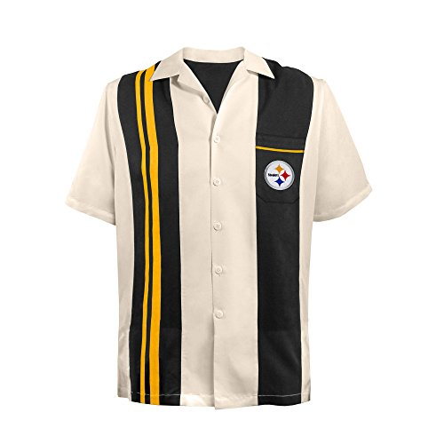 NFL Pittsburgh Steelers NFL Spare Bowling Shirt, Plus, -