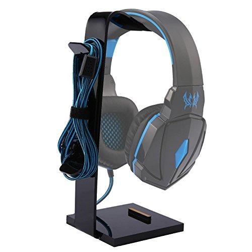 KOBWA Kopfhörer-Ständer, Halterung für alle Kopfhörer/Handys/iPad/Uhr (schwarz)