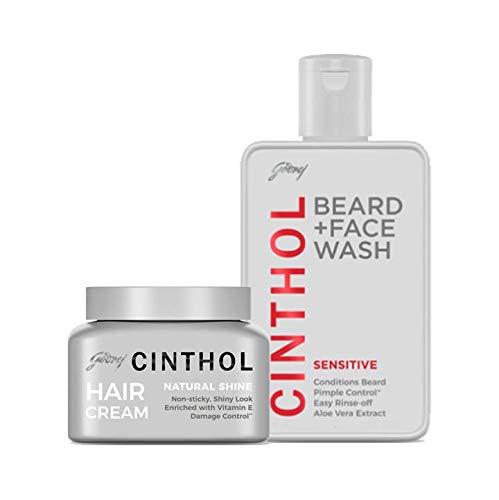 Cinthol Hair Natural Shine 100g and Cinthol Sensitive Shaving + Face wash 100g Combo