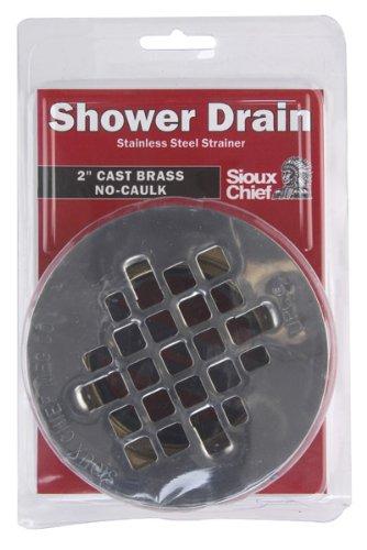 sioux chief shower drain nocaulk 18 gauge stainless steel strainer 2 u0026quot