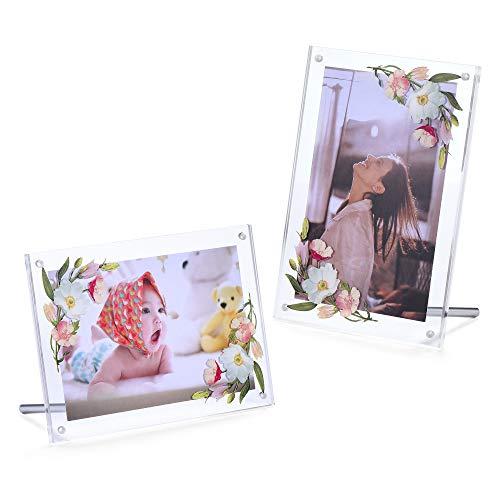 Phattopa Clear Acrylic Photo Frame 5x7 Printed