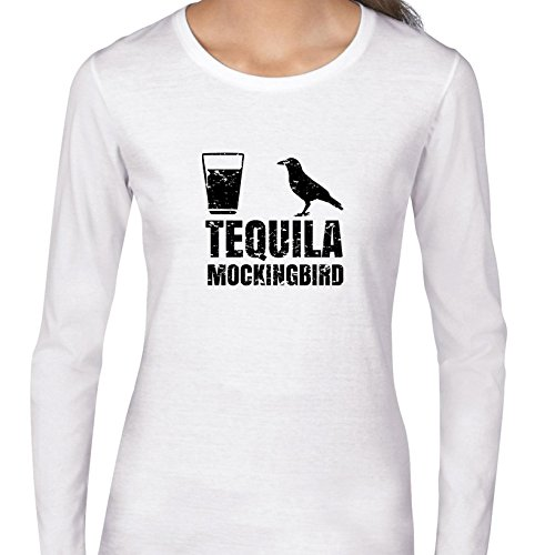 Hollywood Thread Tequila Mockingbird - Ironic To Kill Spanish Bird Shot Women's Long Sleeve T-Shirt ()