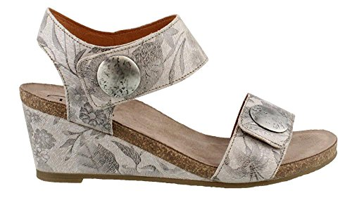 Taos Footwear Womens Carousel 2 Sandalo In Pelle Di Cuoio Floreale