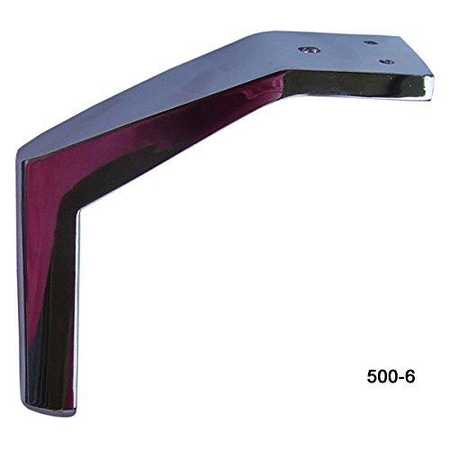 Alpha Furnishings Beautiful Solid Chrome Finish Angled Metal Leg 6H