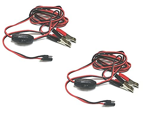 (2) 8 ft. WIRING HARNESS Power Plug Kit for 12V Demand / Diaphragm Water Pumps by The ROP Shop