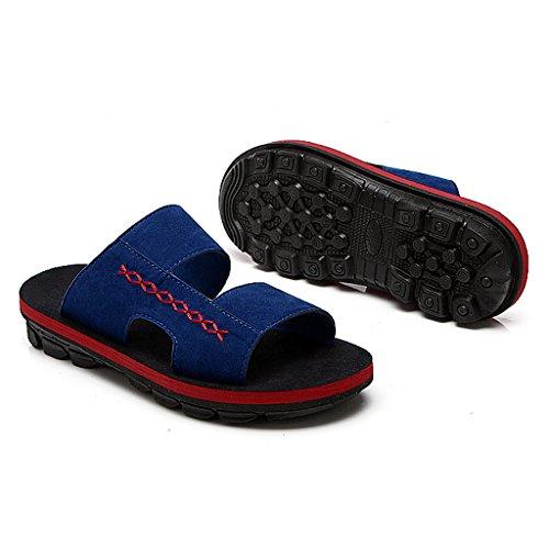 Flop Vacaciones Zapatillas Tendencia Sandalias De Azul Verano Oscuro Casual Pxq1zPR