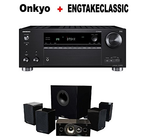 Onkyo Rz Series Audio & Video Component Receiver Black (TX-RZ720) + Energy 5.1 Take Classic Home Entertainment System (Set of Six, Black) Bundle