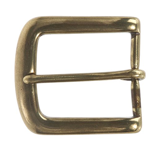 "1 3/8"" (35 mm) Single Prong Solid Brass Horseshoe Belt Buckle Color: Antique Brass from beltiscool"