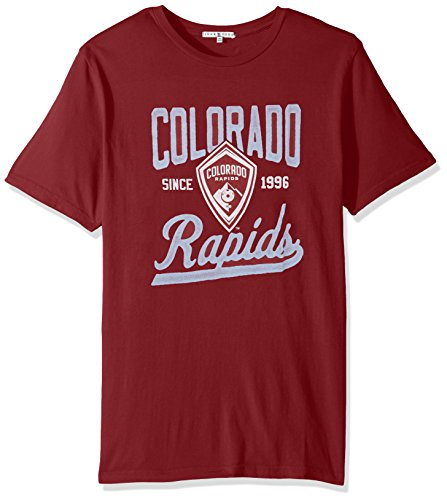 MLS Colorado Rapids Men's Short sleeve Crew Neck Tee, X-Large, Crim
