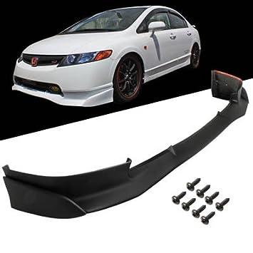 06 - 08 Honda Civic 4dr Sedán Mugen si estilo parachoques delantero Labio Spoiler sintética: Amazon.es: Coche y moto