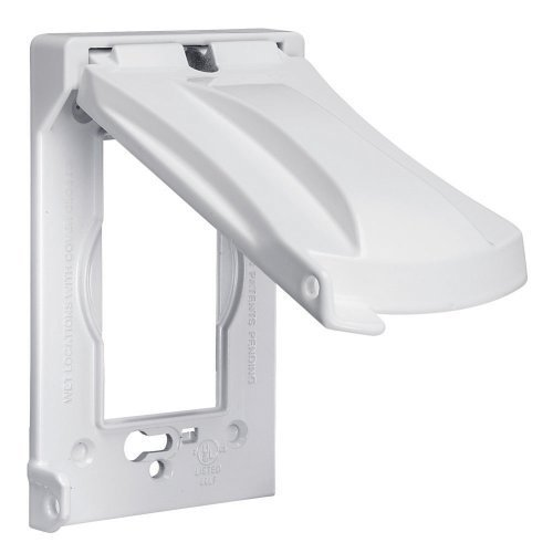 Bell MX1050W Weatherproof Single Outlet Cover Outdoor Receptacle Protector, White, Vertical Flat Color: White, Model: MX1050W (Tools & Outdoor gear supplies)