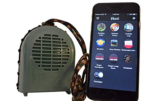 iHunt XSB Electronic Game Call & Bluetooth Speaker Combo, EDIHXSB, FREE App with 750 Game Calls, Compact Rugged Design from iHunt