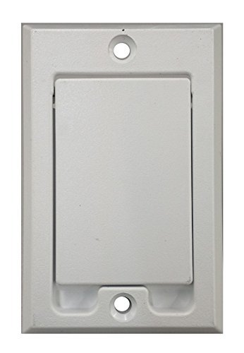 yan_ Central Vacuum Square Door Inlet Wall Plate White for Nutone Beam VacuFlow (Inlet Vacuum Central)