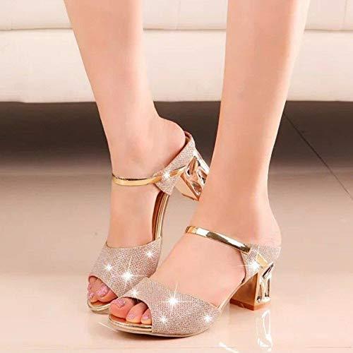 Zapatos de Verano de Moda Las Cu tac Sandalias del de la Suaves Mujeres Plataformas PU as de la Ocasionales qawABI