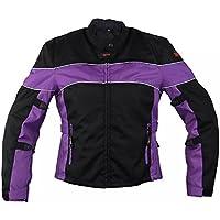 Xelement CF464 Aegis Womens Black/Purple Jacket Tri-Tex...