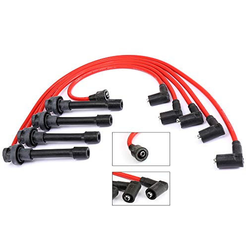 cciyu New Spark Plug Ignition Wire Sets Compatible with Honda Accord/Civic/Civic del Sol 1992-2002