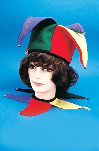 Star Power Renaissance Court Jester Set Collar & Costume Hat, One Size (Jester Set)