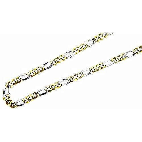 7944c3fc5d1f Pegaso Gioelli - Collar de oro blanco y amarillo de 18 ct (quilates ...