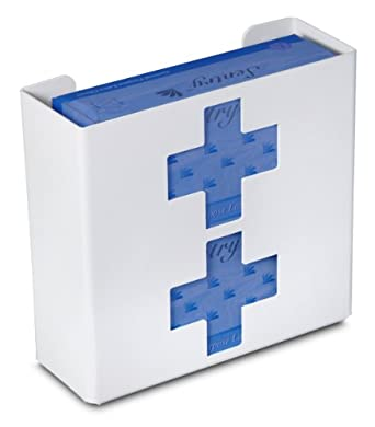 "TrippNT 51048 Priced Right Double Glove Box Holder with Medical Cross, 11"" Width x 10"" Height x 4"" Depth"