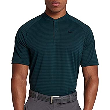 892cb345 Nike Men's Tiger Woods Thin Stripe Zonal Cooling Golf Polo