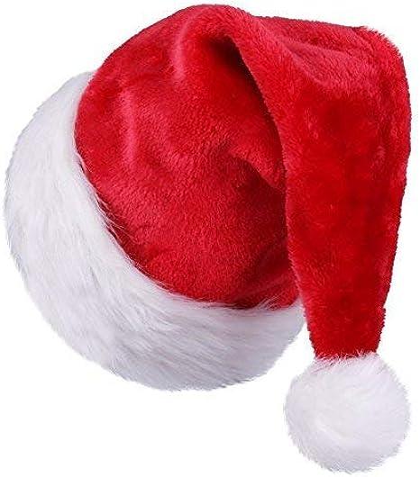 ZB - Gorro de Papá Noel, color rojo y blanco: Amazon.es: Ropa y accesorios