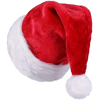9ca4e858652b8 Amazon.com  Beistle 20731 Velvet Santa Hat with Plush Trim
