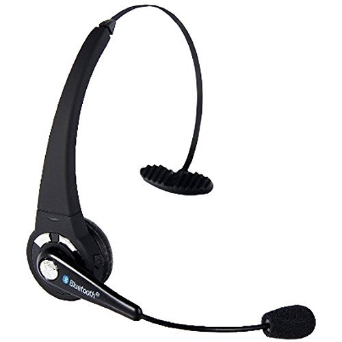 Bluetooth Headset with Mic, YAMAY Wireless Over the Head Hands Free in Car Dual Pairing for Android iPhone 6 6s 7 Plus Cell Phones PS3 PC Computer Office Call Center Truck Drivers Driving Black